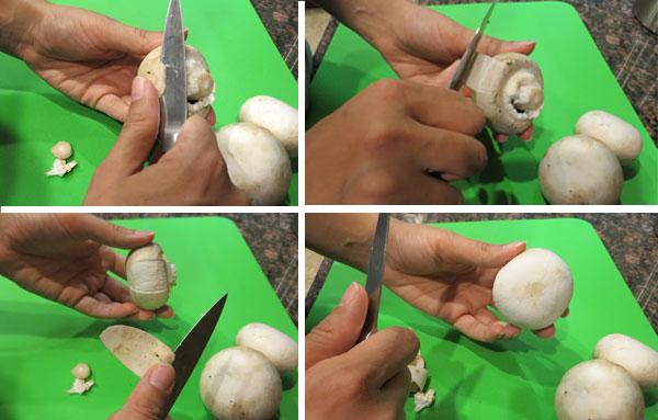 Как правильно счистить кожицу с шампиньонов