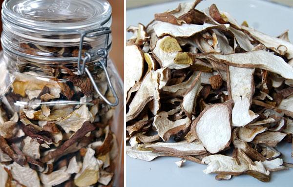Хранение сушеных белых грибов в банке