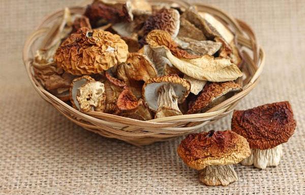 Сушеные белые грибы целиком